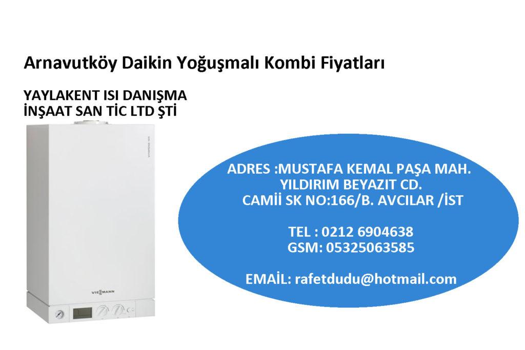 Arnavutköy Daikin Yoğuşmalı Kombi Fiyatları