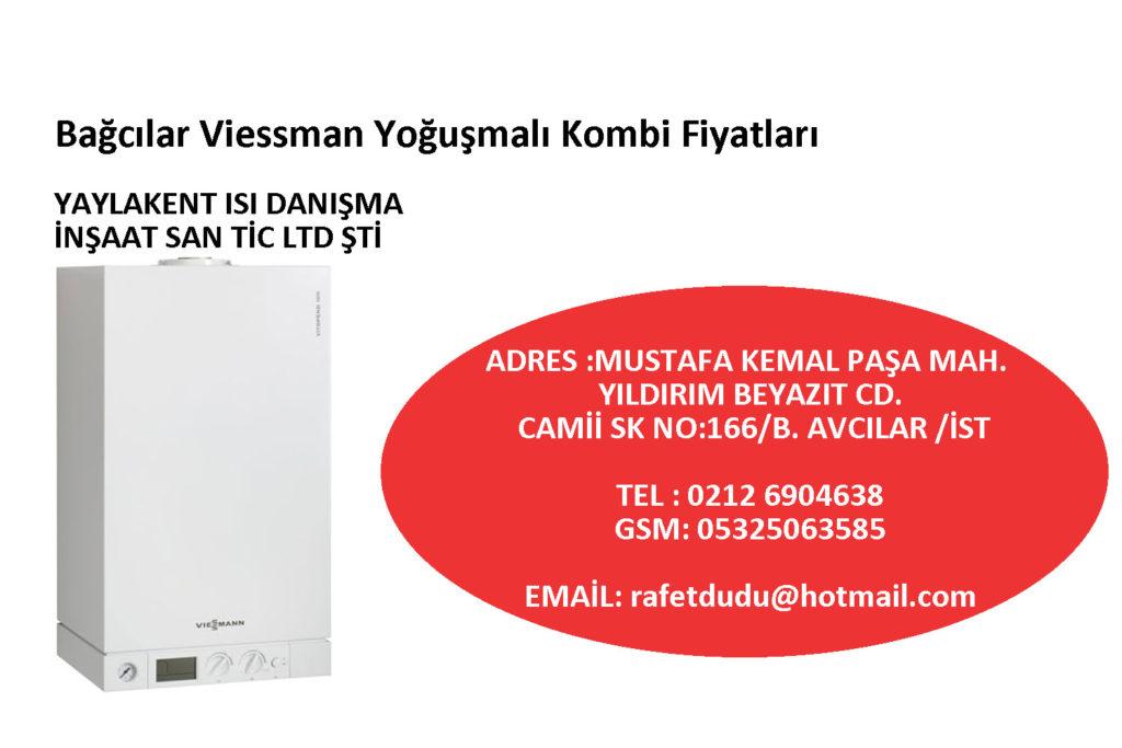 Bağcılar Viessman Yoğuşmalı Kombi Fiyatları